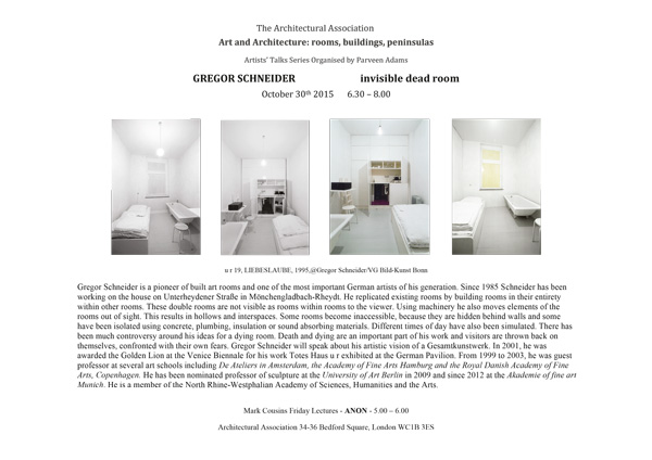 Gregor Schneider - Architectural Association School of Architecture